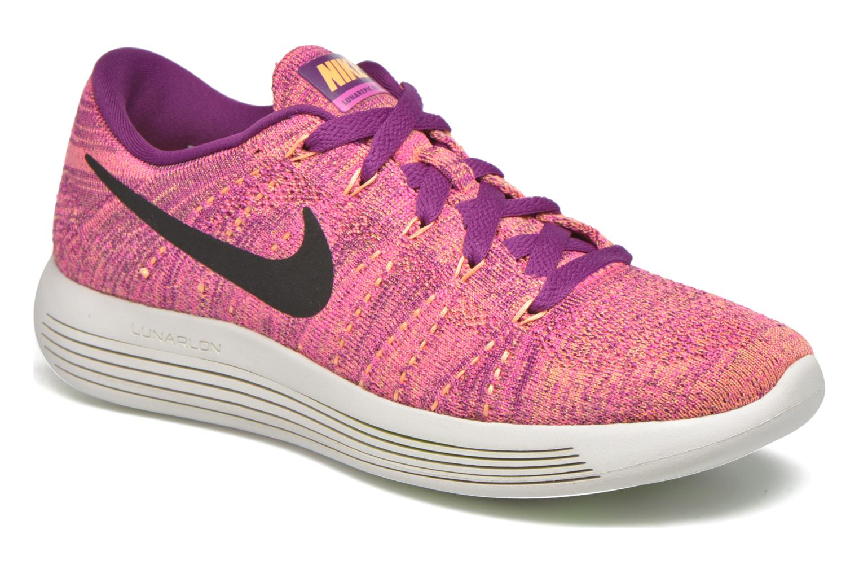 Chaussures de sport Nike W Nike Lunarepic Low Flyknit Violet vue détail/paire