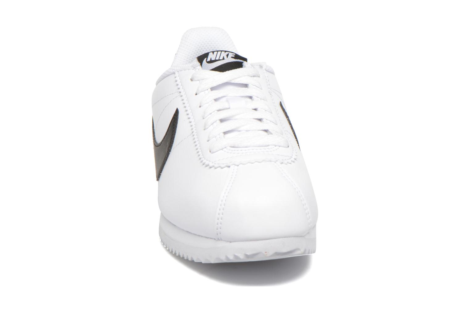 WhiteBlack-White Nike Wmns Classic Cortez Leather (Blanc)