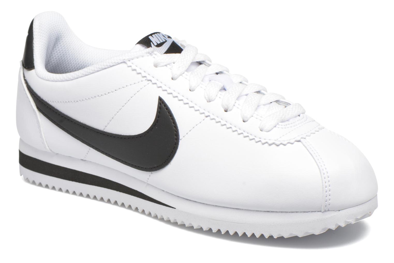 Wmns Classic Cortez Leather White/Black-White