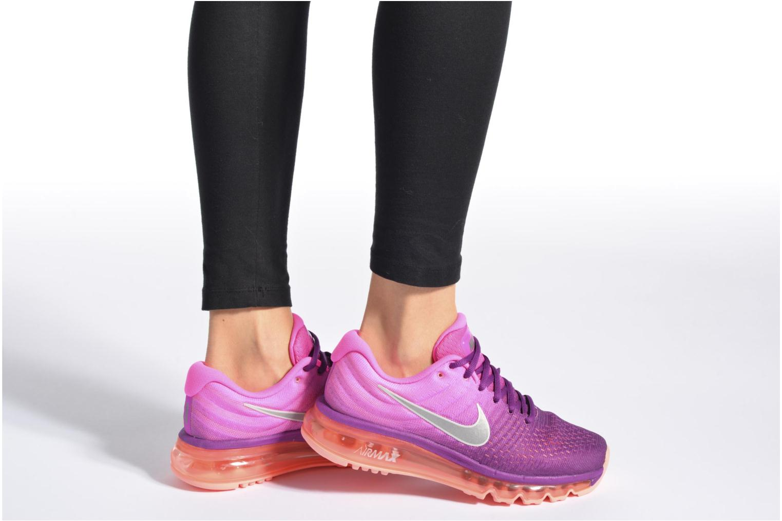 Sport shoes Nike Wmns Nike Air Max 2017 Black view from underneath / model view
