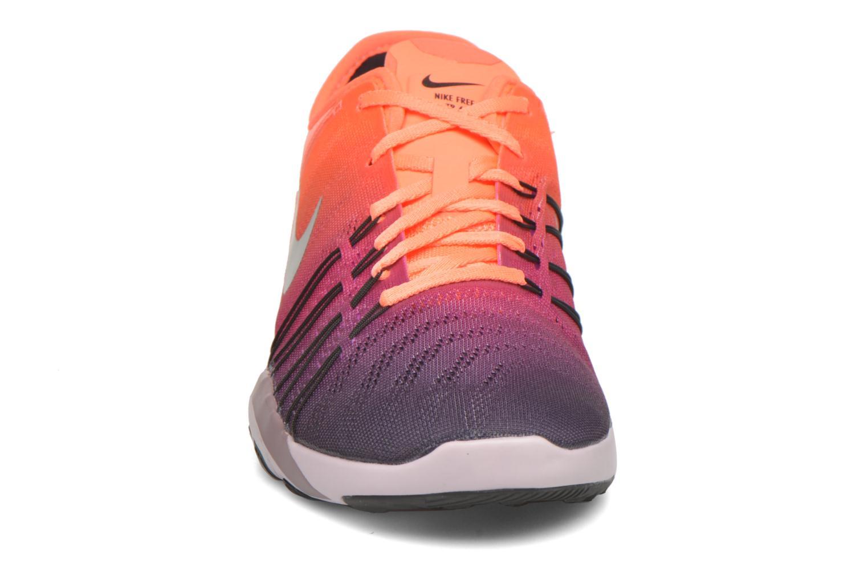 Chaussures de sport Nike Wmns Nike Free Tr 6 Spctrm Orange vue portées chaussures