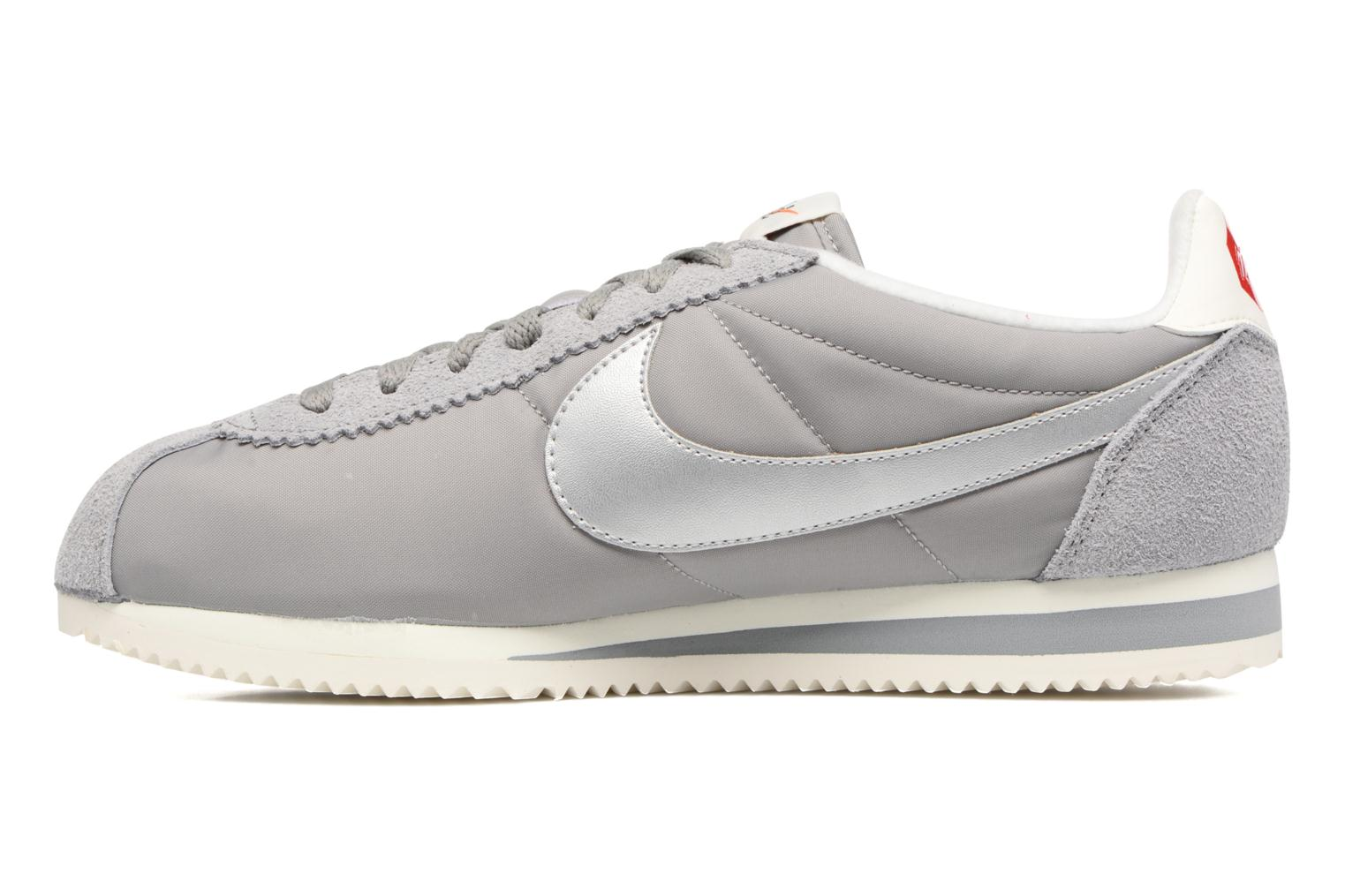 Classic Cortez Nylon Prem Medium Grey/Metallic Silver-Sail