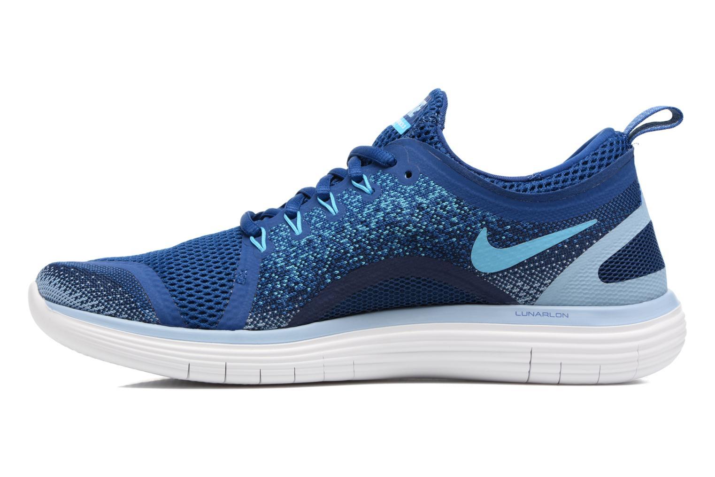 Chaussures de sport Nike Nike Free Rn Distance 2 Bleu vue face