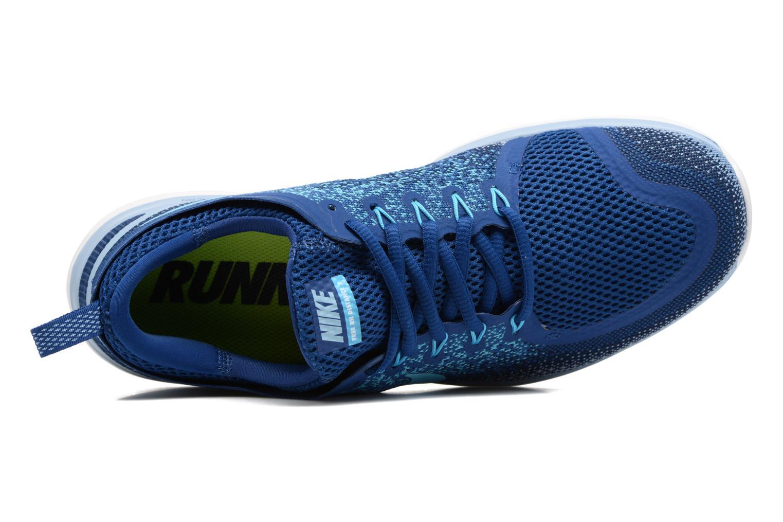 Chaussures de sport Nike Nike Free Rn Distance 2 Bleu vue gauche