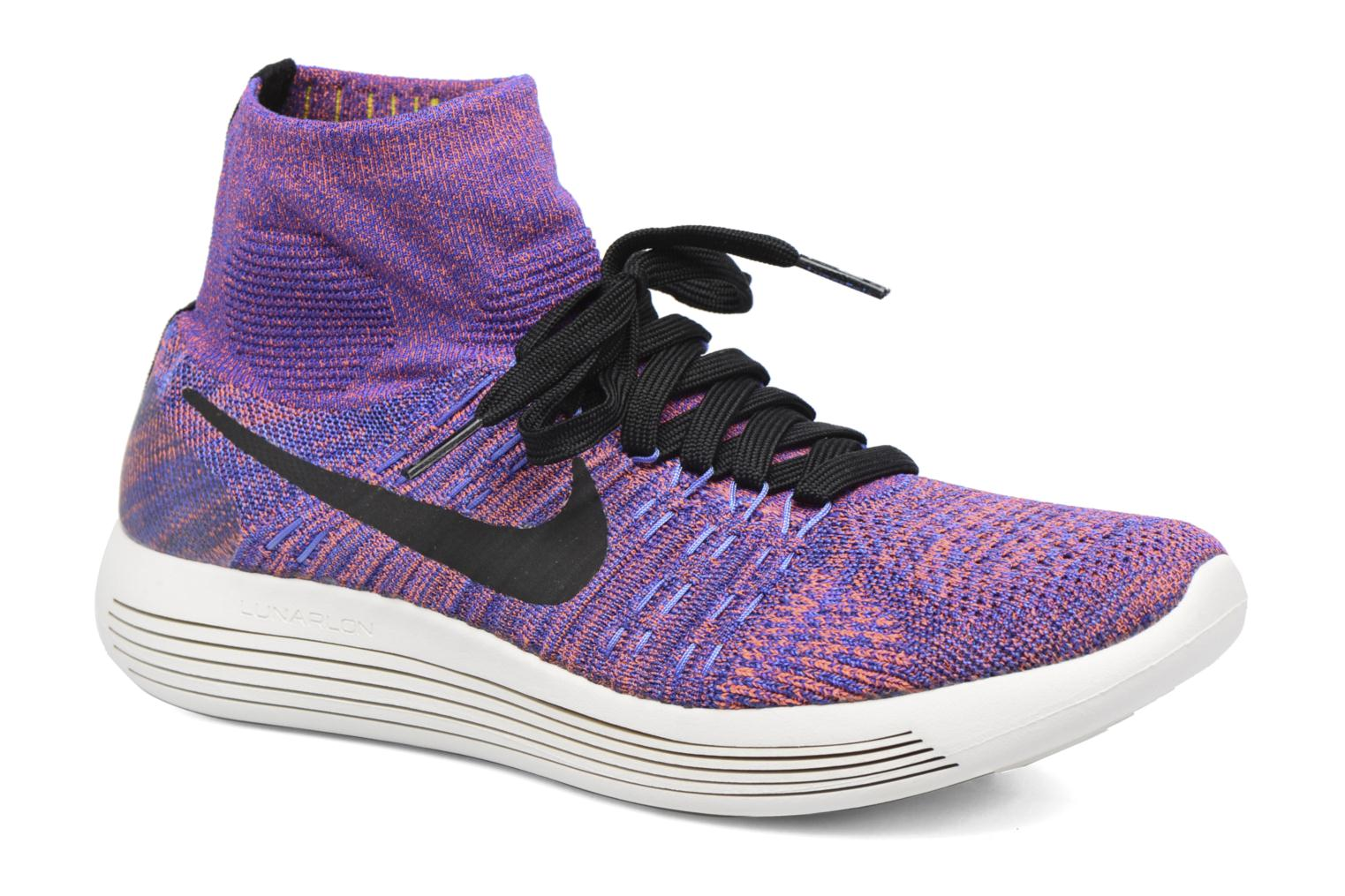 Sport shoes Nike Nike Lunarepic Flyknit Blue detailed view/ Pair view