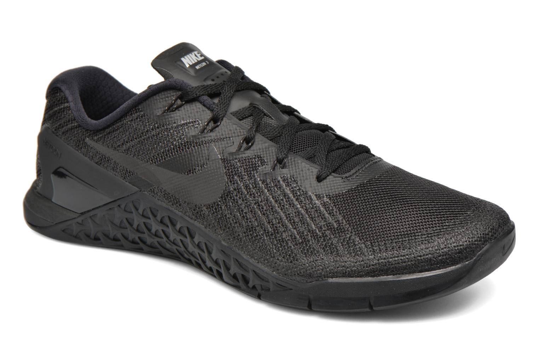 Sport shoes Nike Nike Metcon 3 Black detailed view/ Pair view