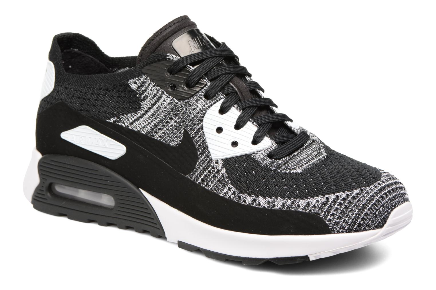 BLACK/BLACK-WHITE-ANTHRACITE Nike W Air Max 90 Ultra 2.0 Flyknit (Noir)