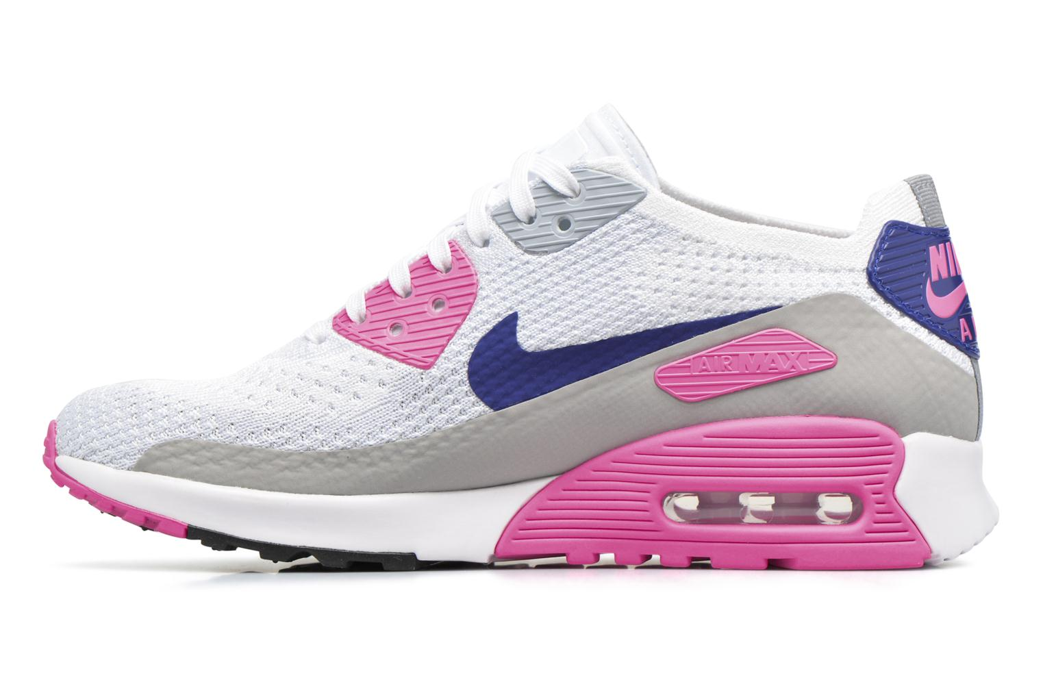 Sneakers Nike W Air Max 90 Ultra 2.0 Flyknit Bianco immagine frontale