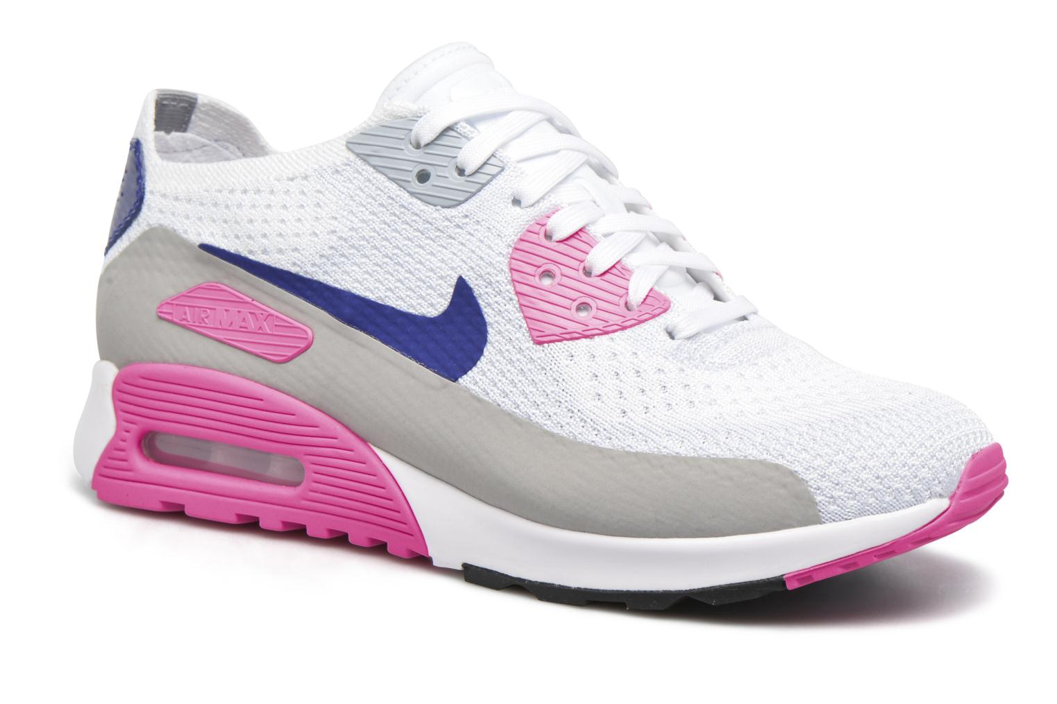 W Air Max 90 Ultra 2.0 Flyknit White/Concord-Laser Pink-Black