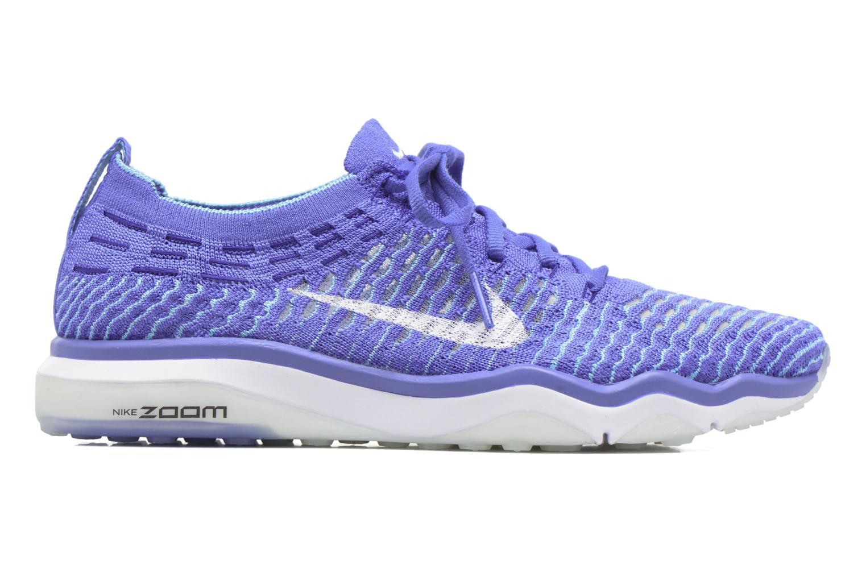 Sportssko Nike W Air Zoom Fearless Flyknit Blå se bagfra