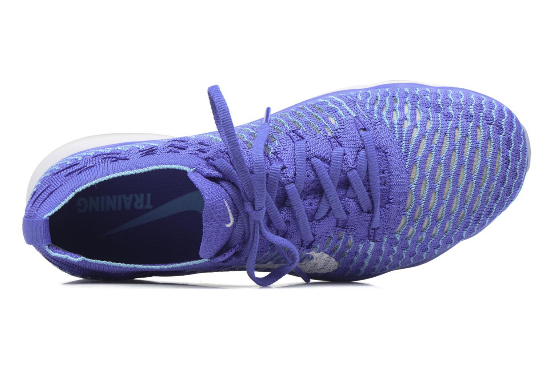 Zapatillas de deporte Nike W Air Zoom Fearless Flyknit Azul vista lateral izquierda