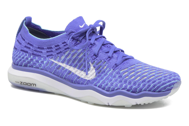 Sportssko Nike W Air Zoom Fearless Flyknit Blå detaljeret billede af skoene
