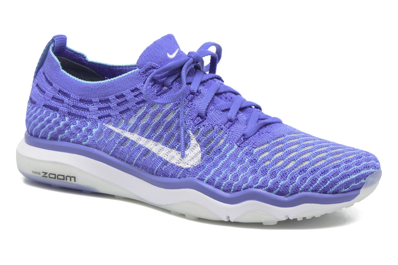 Sport shoes Nike W Air Zoom Fearless Flyknit Blue detailed view/ Pair view