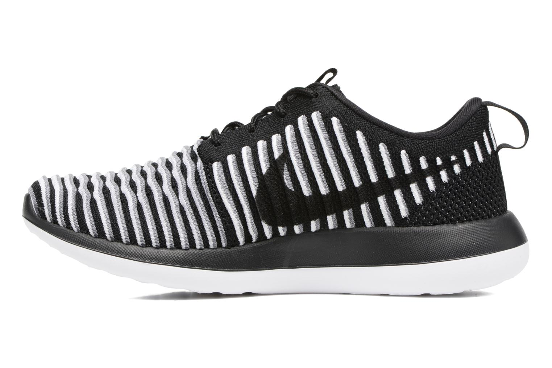 Sneaker Nike W Nike Roshe Two Flyknit schwarz ansicht von vorne
