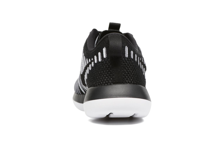 Deportivas Nike W Nike Roshe Two Flyknit Negro vista lateral derecha