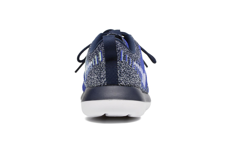 Deportivas Nike W Nike Roshe Two Flyknit Azul vista lateral derecha