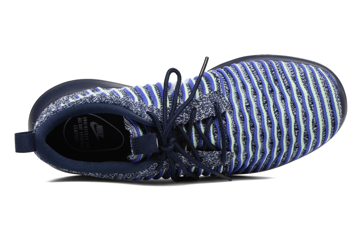 W Nike Roshe Two Flyknit College Navy/White-Binary Blue