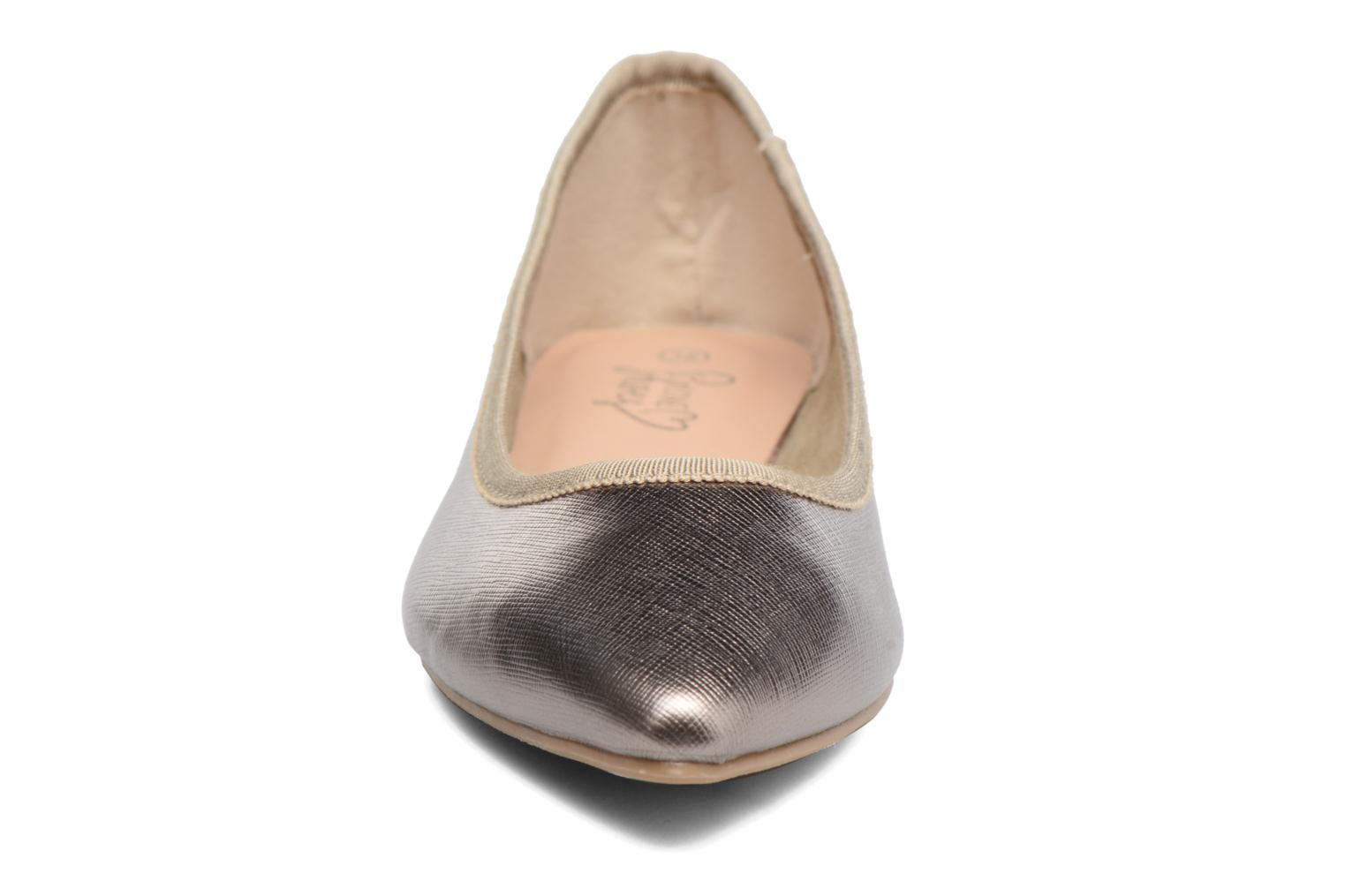 Ballet pumps I Love Shoes MC ANAS Silver model view