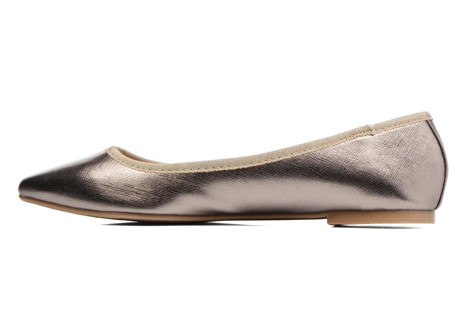 Ballet pumps I Love Shoes MC ANAS Silver front view