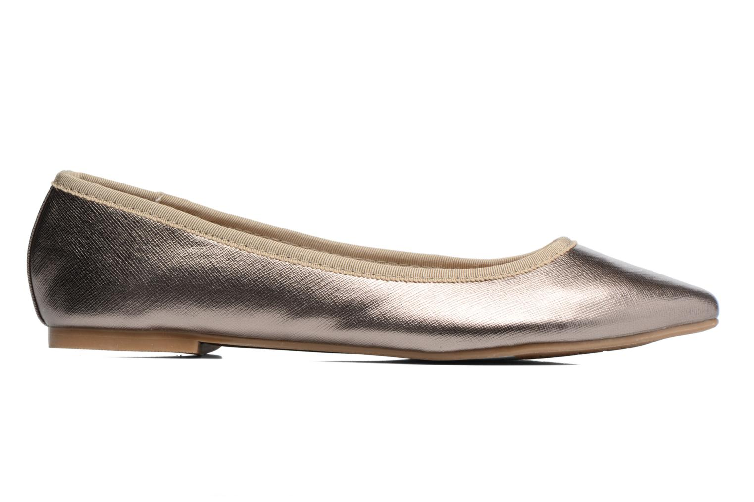 Ballet pumps I Love Shoes MC ANAS Silver back view