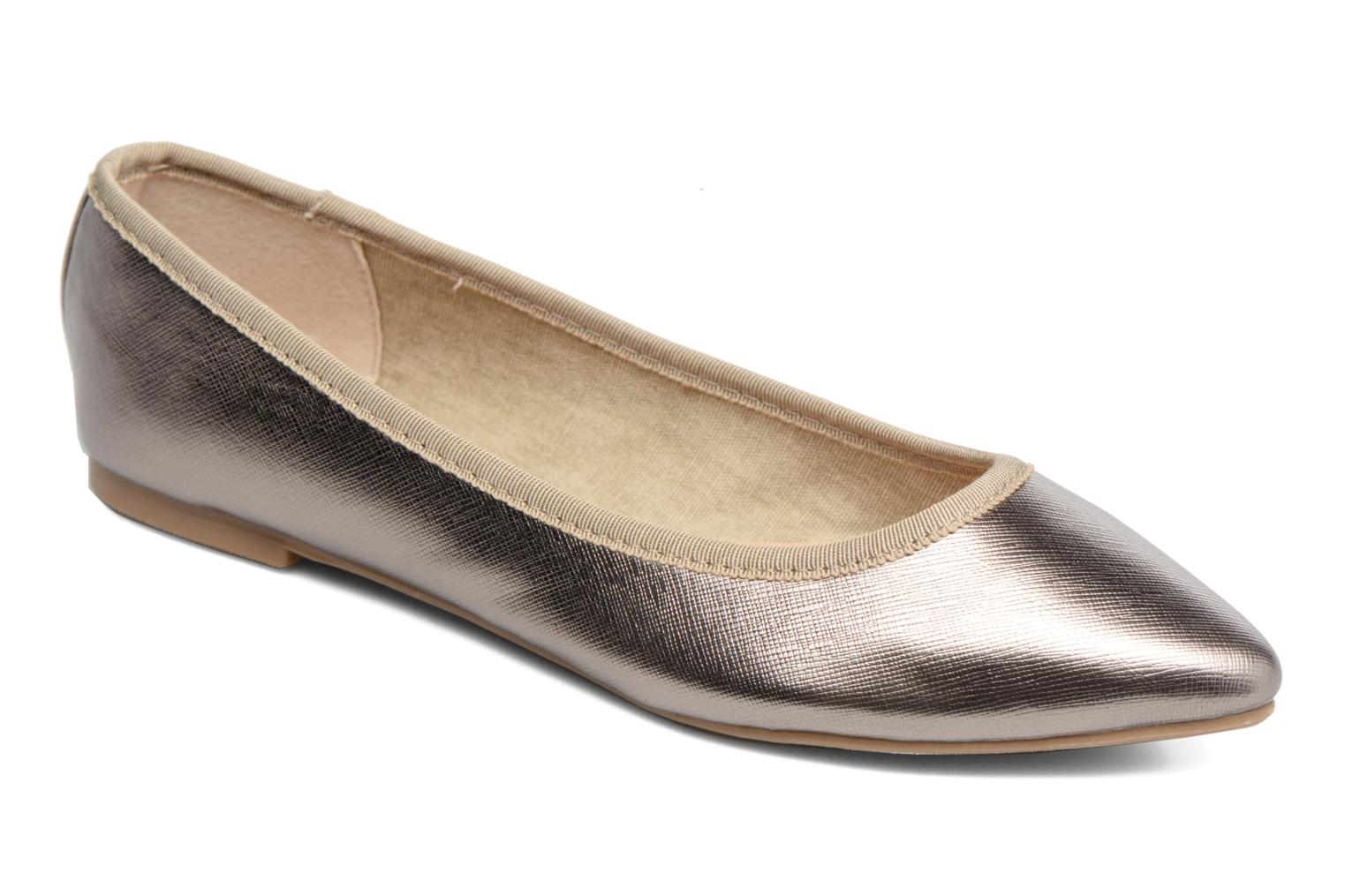 Ballet pumps I Love Shoes MC ANAS Silver detailed view/ Pair view