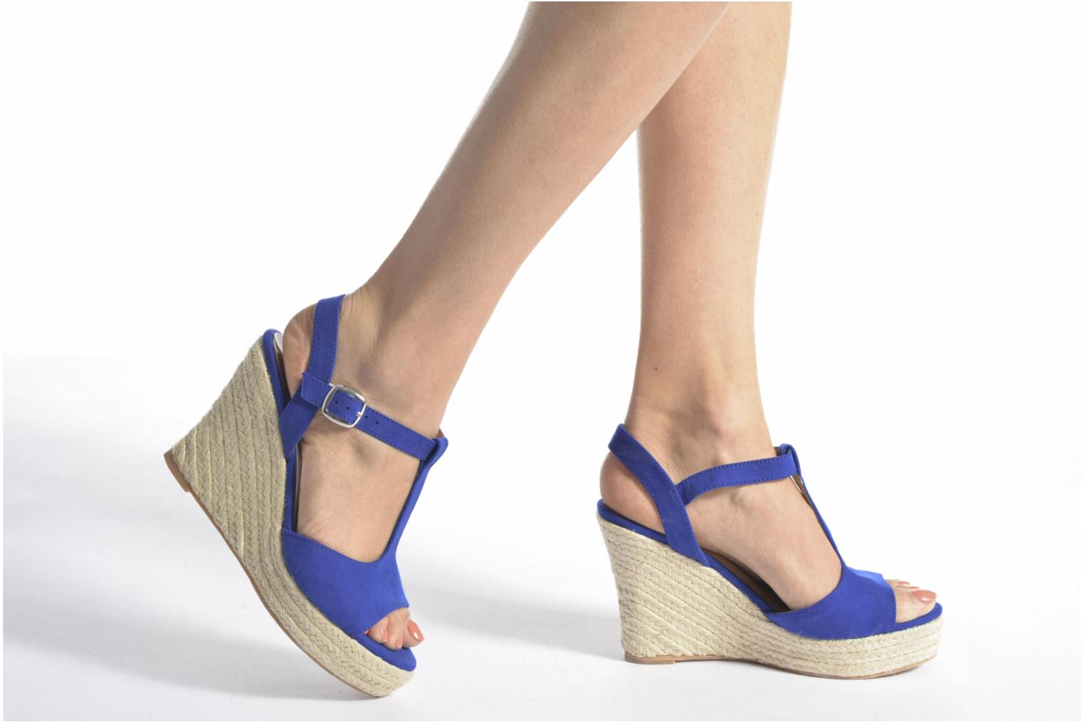 Espadrilles I Love Shoes MCADA Black view from underneath / model view