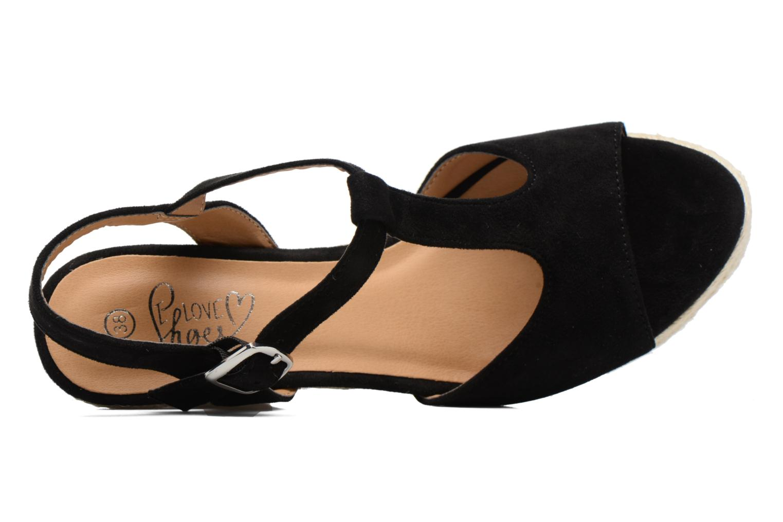 Espadrilles I Love Shoes MCADA Black view from the left