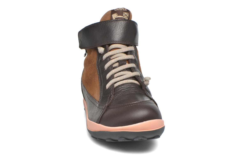 Chaussures à lacets Camper Peu Pista Kids F Marron vue portées chaussures