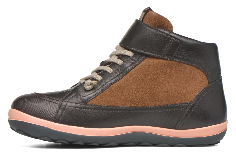 Chaussures à lacets Camper Peu Pista Kids F Marron vue face