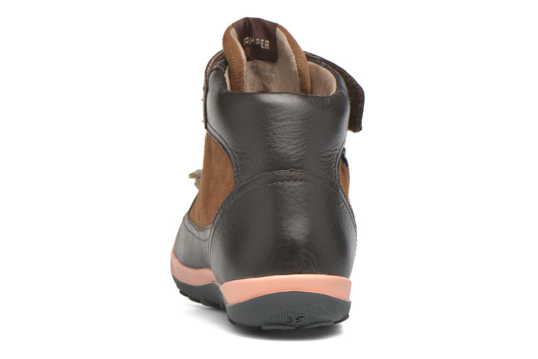 Chaussures à lacets Camper Peu Pista Kids F Marron vue droite