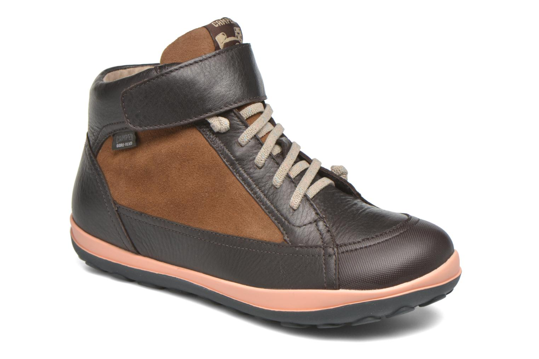 Chaussures à lacets Camper Peu Pista Kids F Marron vue détail/paire