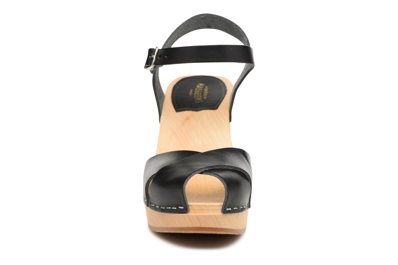Sandales et nu-pieds Swedish Hasbeens Merci Sandal Noir vue portées chaussures