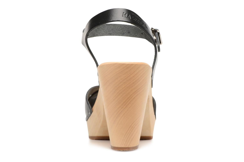 Sandalen Swedish Hasbeens Merci Sandal schwarz ansicht von rechts