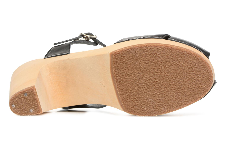 Sandales et nu-pieds Swedish Hasbeens Merci Sandal Noir vue haut
