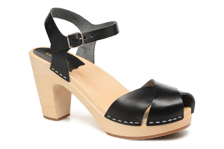 Sandales et nu-pieds Swedish Hasbeens Merci Sandal Noir vue détail/paire
