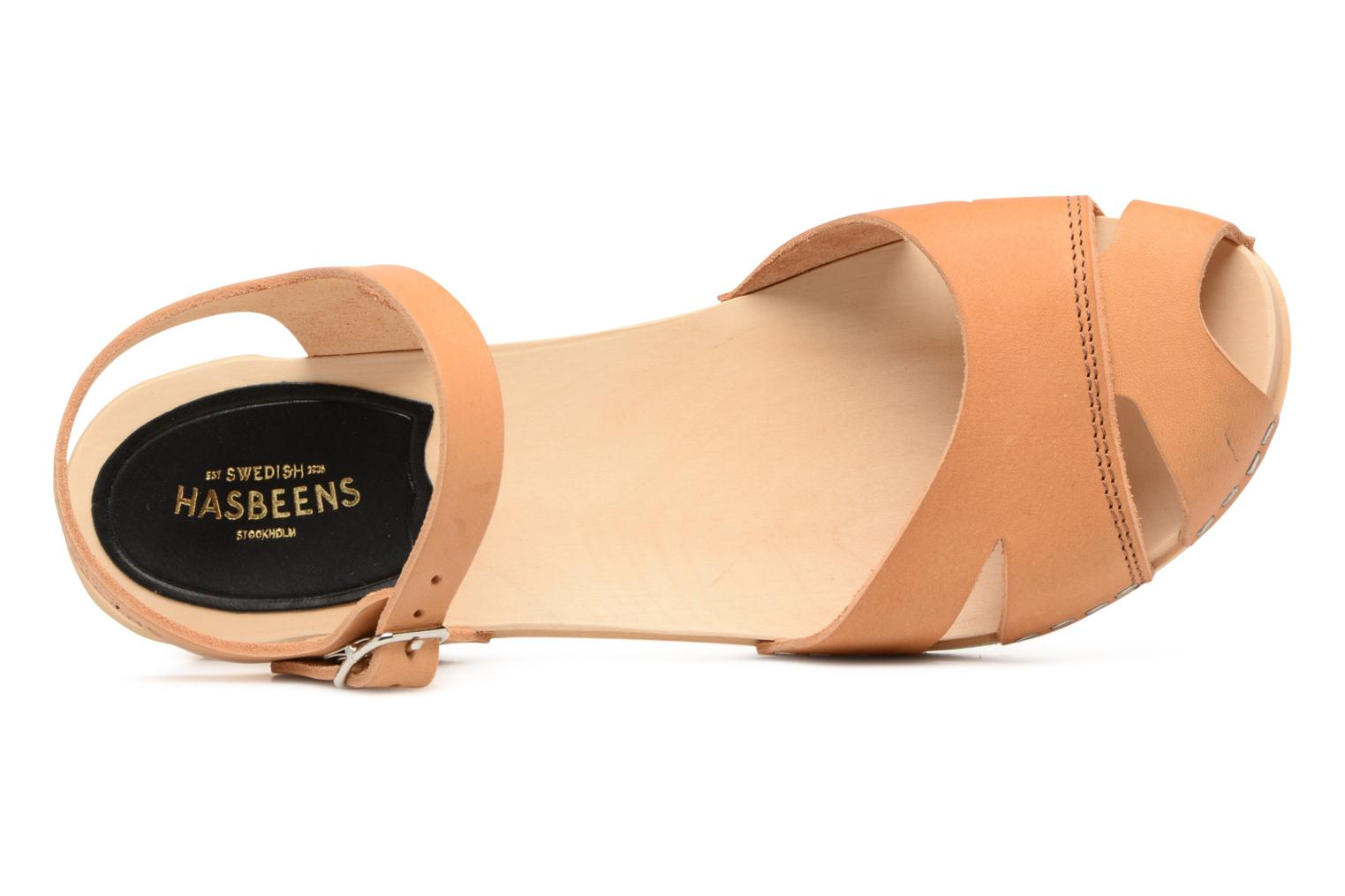 Sandals Swedish Hasbeens Suzanne Debutant Beige view from the left