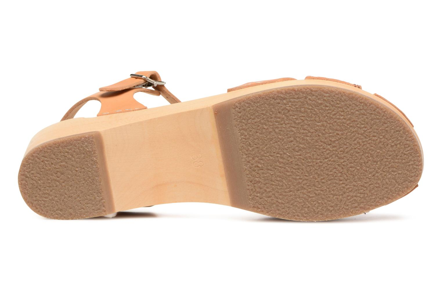 Sandals Swedish Hasbeens Suzanne Debutant Beige view from above
