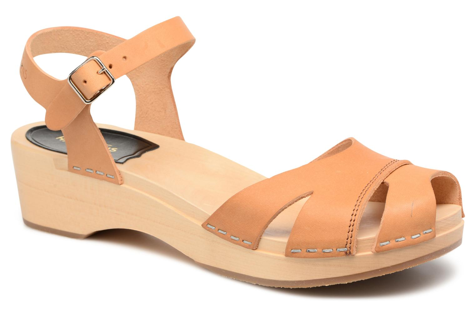 Sandals Swedish Hasbeens Suzanne Debutant Beige detailed view/ Pair view