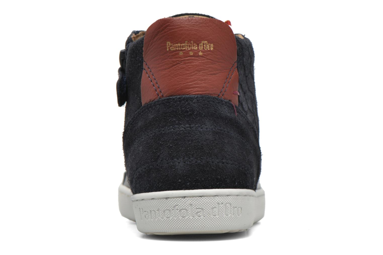 Trainers Pantofola d'Oro Montefino mid JR Black view from the right