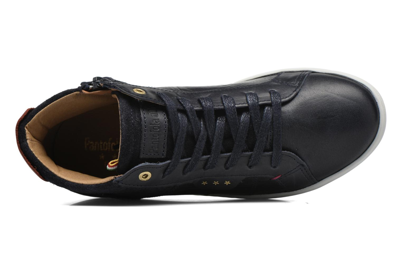 Trainers Pantofola d'Oro Montefino mid JR Black view from the left