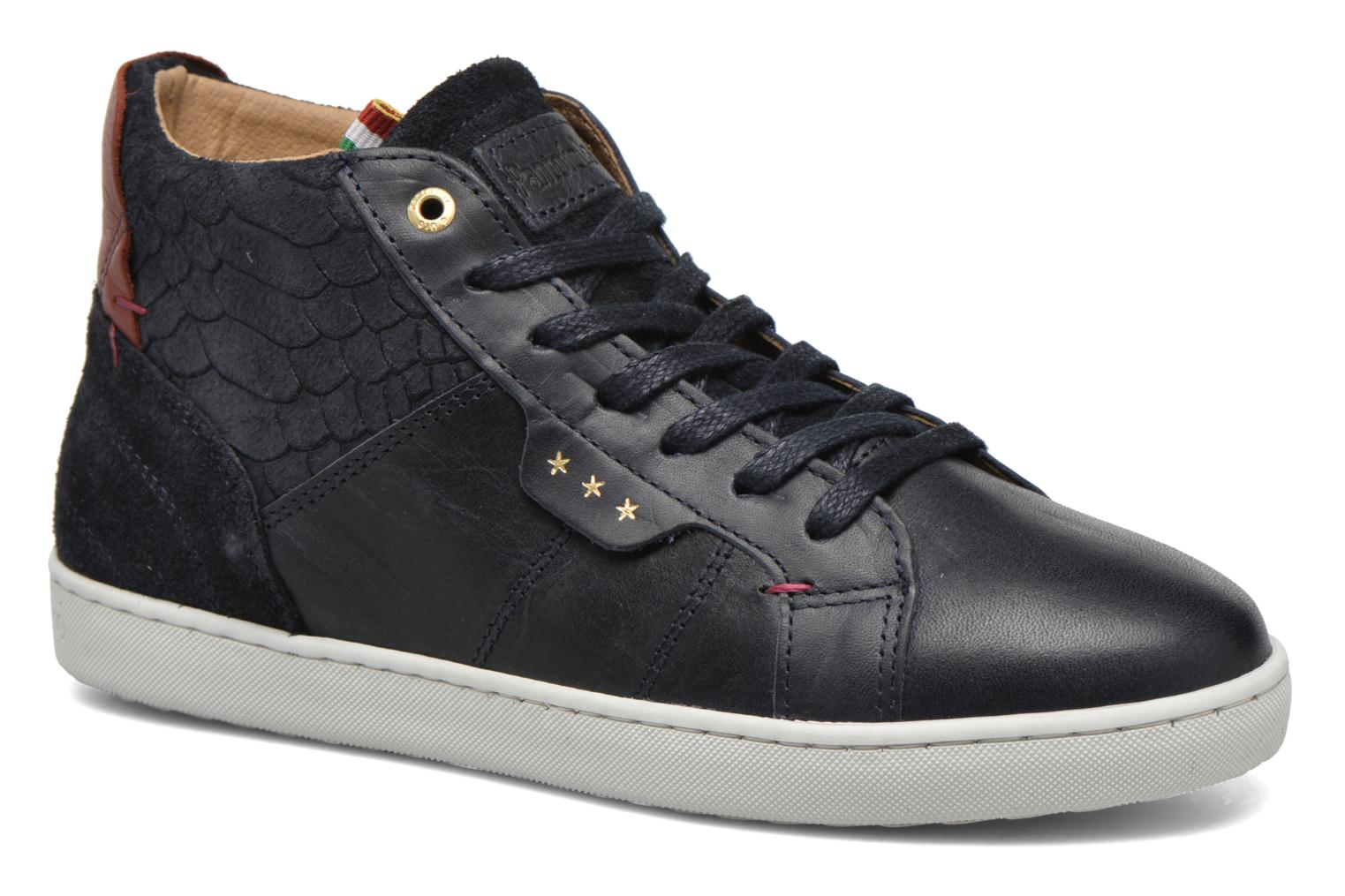 Trainers Pantofola d'Oro Montefino mid JR Black detailed view/ Pair view