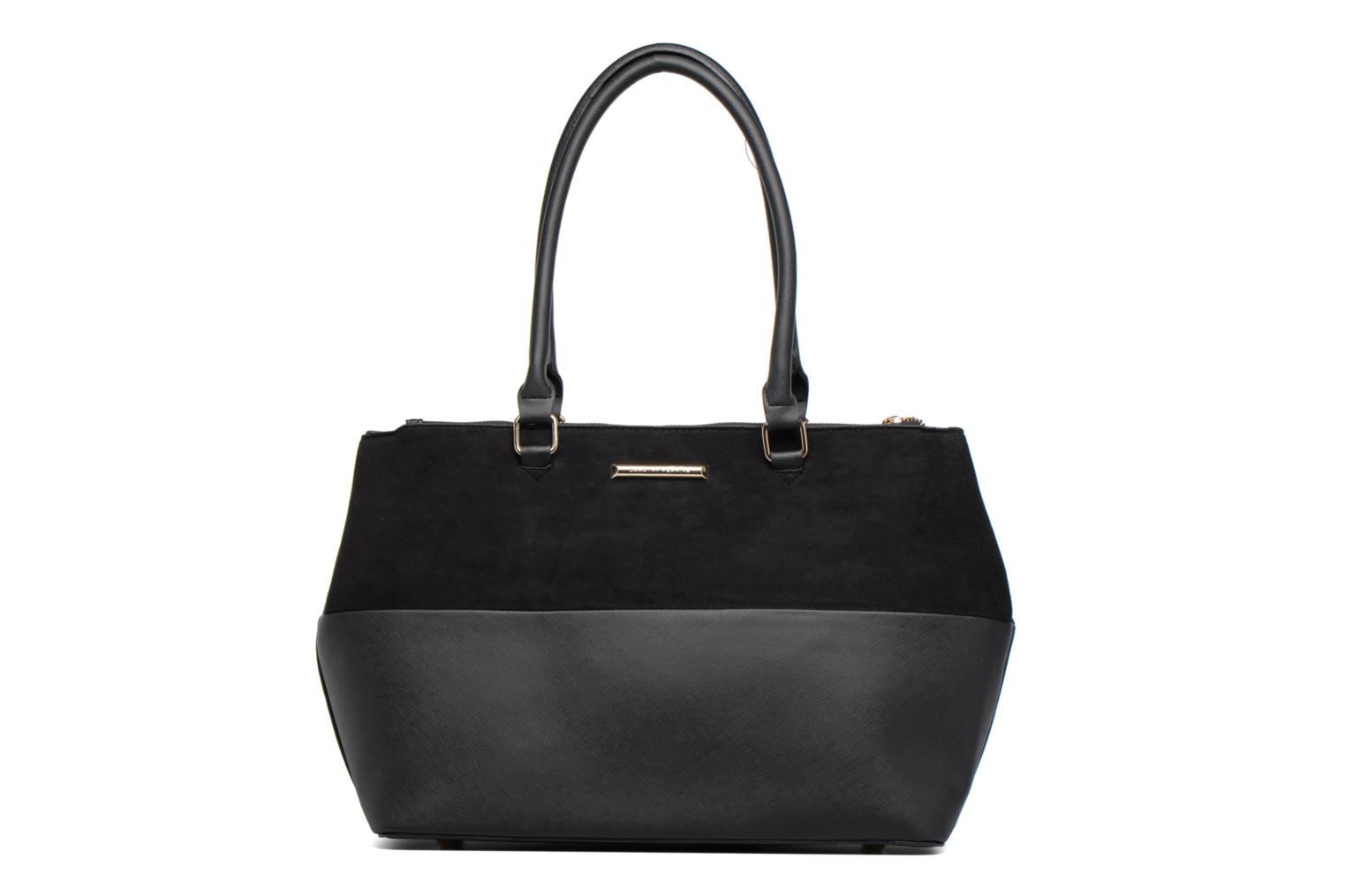 Black Double Zip Tote Black