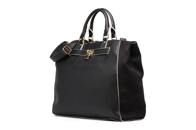 Bolsos de mano Dorothy Perkins Black WBone Piping Belted Oversize Tote Negro vista del modelo