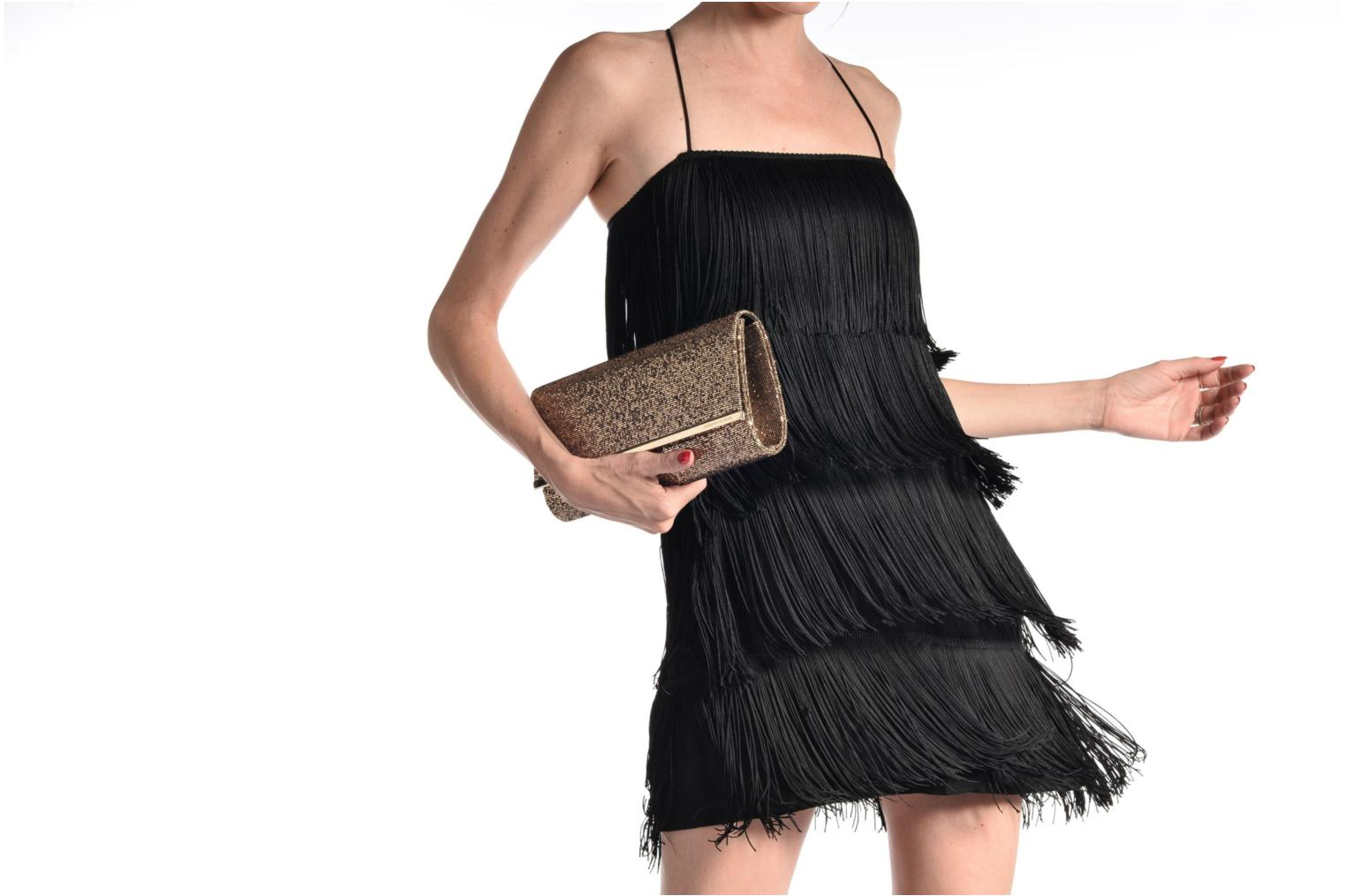 Large Structured Clutch Black