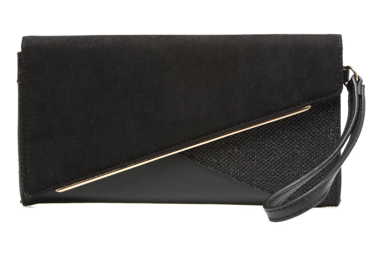 Panelled Asymetric Wristlet Black