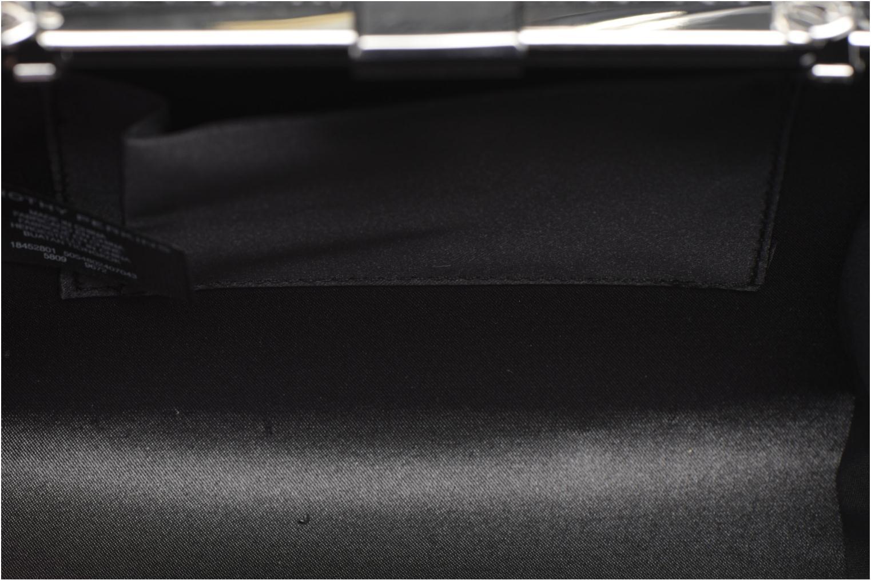 Embellished Flower Box Clutch Black