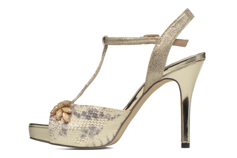 Zapatos de tacón Menbur Lisa Amarillo vista de frente