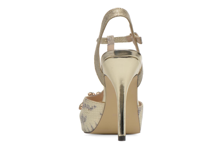 Zapatos de tacón Menbur Lisa Amarillo vista lateral derecha