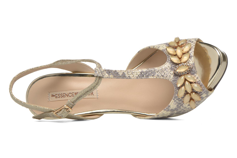 Zapatos de tacón Menbur Lisa Amarillo vista lateral izquierda