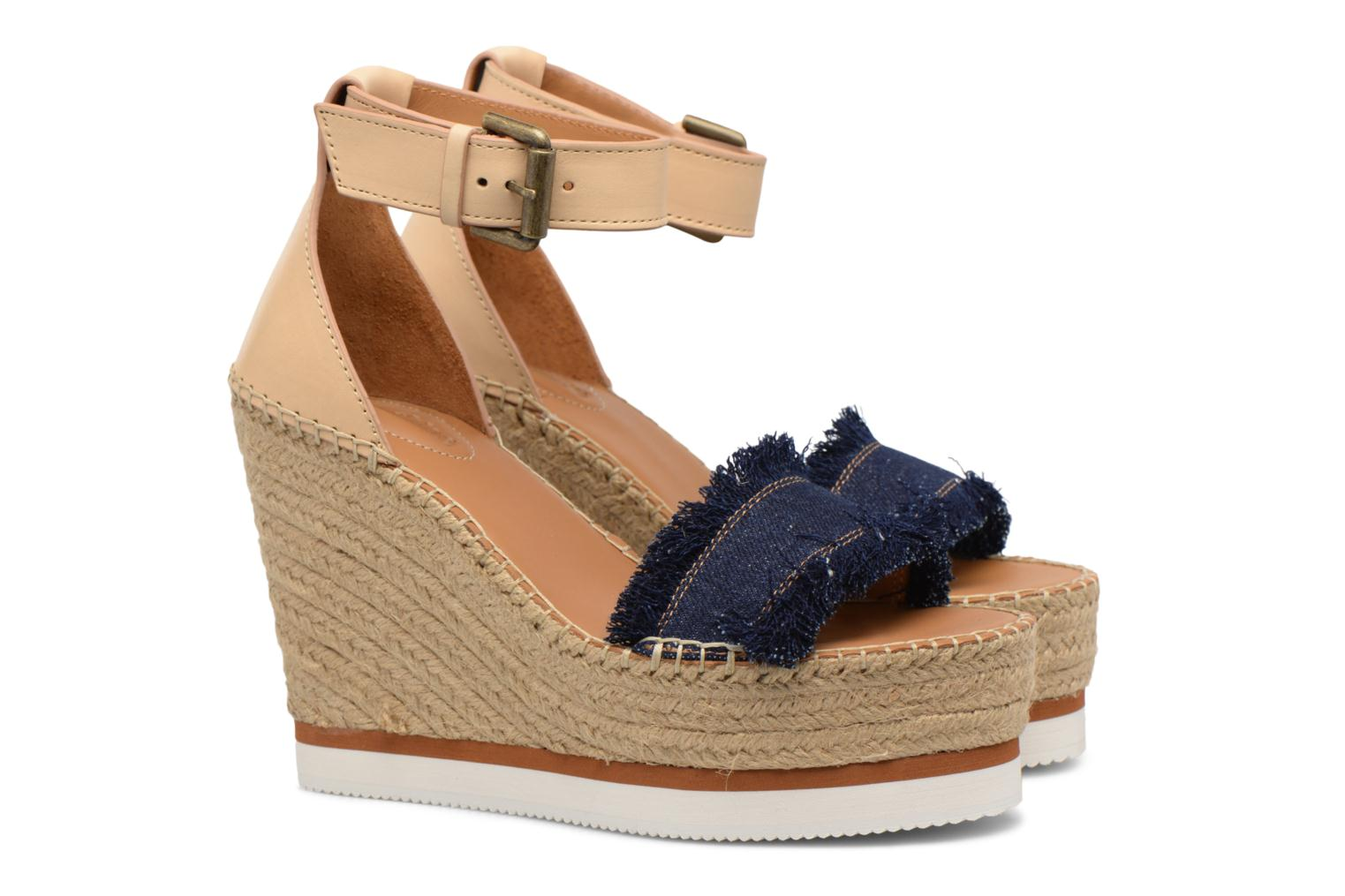 Sandals See by Chloé Glyn High Blue 3/4 view